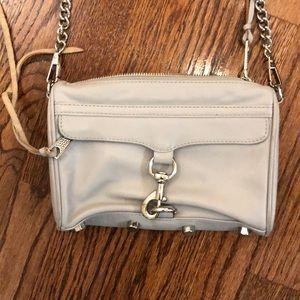 Light grey Rebecca Minkoff Mini MAC leather bag